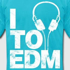 I Listen To EDM - Men's T-Shirt by American Apparel