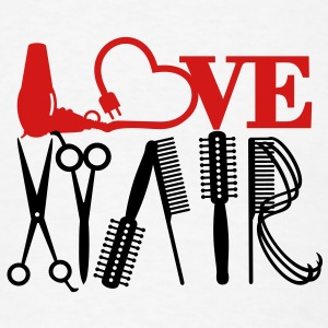 hair stylist's love (1c) T-Shirts - Men's T-Shirt