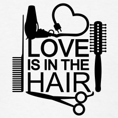 Love is in the hair (1c) T-Shirts