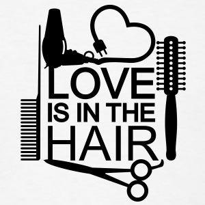 Love is in the hair (1c) T-Shirts - Men's T-Shirt