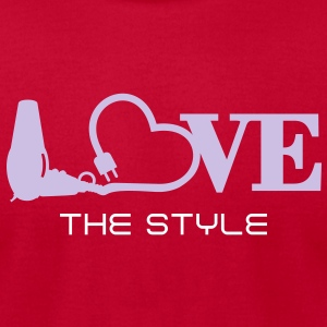 hair stylist's love (1c) T-Shirts - Men's T-Shirt by American Apparel