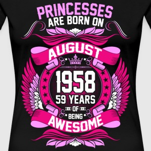 Princesses Are Born On August 1958 59 Years T-Shirts - Women's Premium T-Shirt
