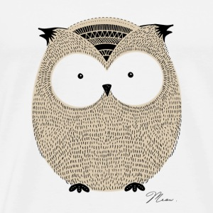 Cute Owl - by MEOW T-Shirts - Men's Premium T-Shirt