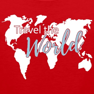 Travel the World Map Worldmap Sportswear - Men's Premium Tank