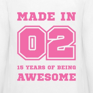Made in 02 15 Years of being awesome Kids' Shirts - Kids' Premium Long Sleeve T-Shirt
