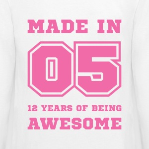 Made in 05 12 Years of being awesome Kids' Shirts - Kids' Premium Long Sleeve T-Shirt