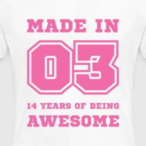 Made in 03 14 Years of being awesome T-Shirts - Women's Premium T-Shirt