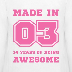 Made in 03 14 Years of being awesome Kids' Shirts - Kids' Premium Long Sleeve T-Shirt