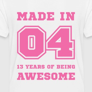 Made in 04 13 Years of being awesome Baby & Toddler Shirts - Toddler Premium T-Shirt