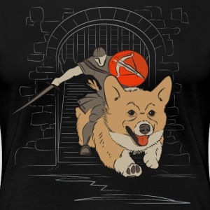 Chraging Corgi Knight - Women's Premium T-Shirt