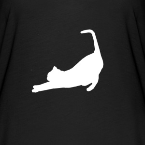 Premium French Stretching Cat Practicing Yoga T-Shirts - Women's Flowy T-Shirt