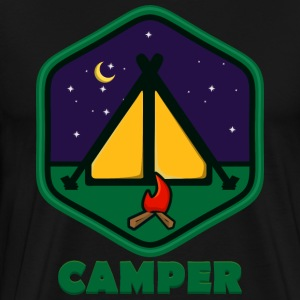 vintage camper badge - Men's Premium T-Shirt