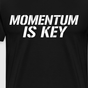 Momentum is Key Motivation Workout T-Shirt T-Shirts - Men's Premium T-Shirt
