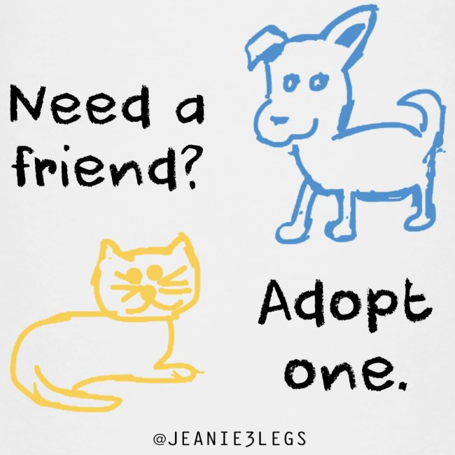 Kids - Adopt A Friend, Dog & Cat Graphic