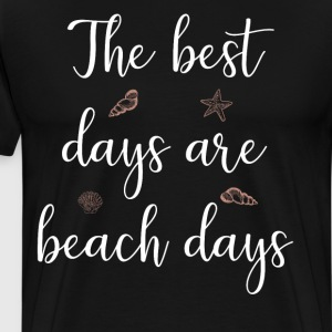 The Best Days are Beach Days Vacation T-Shirt T-Shirts - Men's Premium T-Shirt