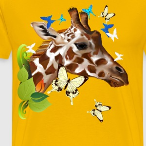 GIRAFFE and BUTTERFLIES - Men's Premium T-Shirt