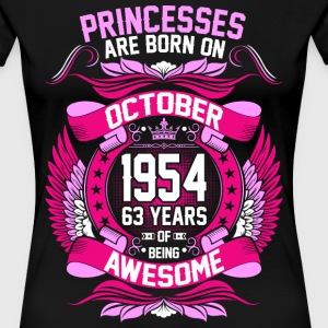 Princesses Are Born On October 1954 63 Years T-Shirts - Women's Premium T-Shirt