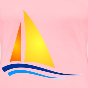 Boat illustration - Women's Premium T-Shirt