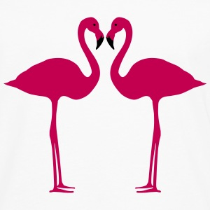 Flamingoes Long Sleeve Shirts - Men's Premium Long Sleeve T-Shirt