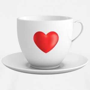Cup with heart and saucer - Men's Premium T-Shirt