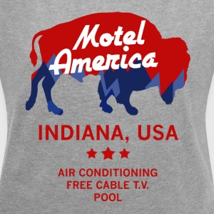 Motel America - Home of the Gods - Women's Roll Cuff T-Shirt