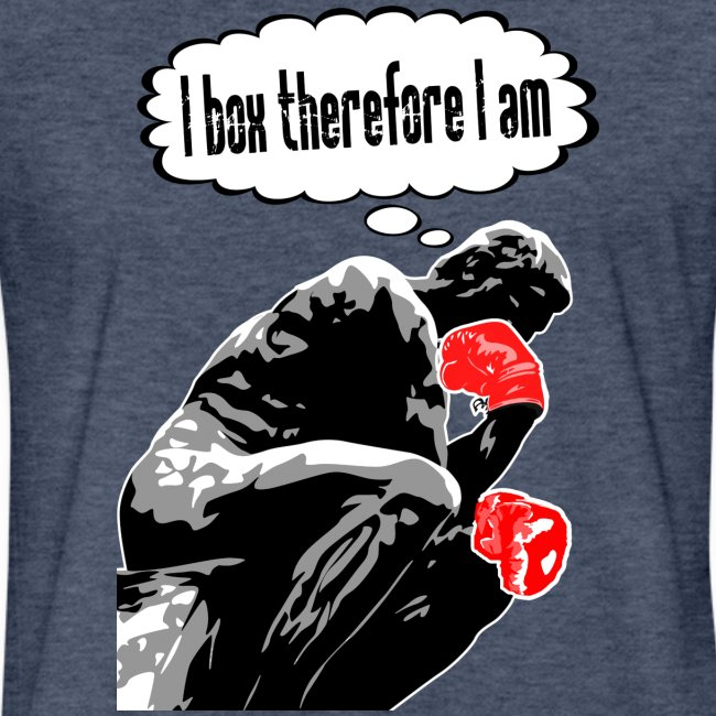 Boxing Thinker - fitted tee