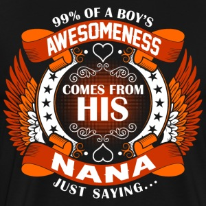 Boys Awesomeness Comes From His Nana T-Shirts - Men's Premium T-Shirt