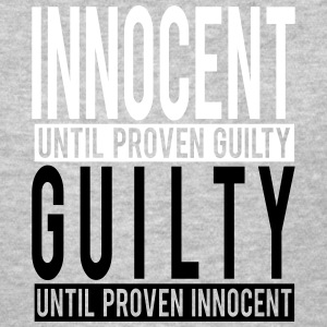 innocent vs guilty unequal justice T-Shirts - Women's T-Shirt