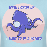 Design ~ Mens Tee: Potato Squid
