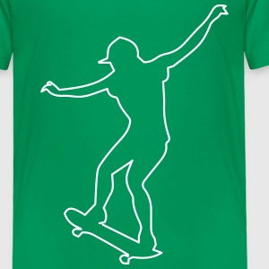 skater outline Baby & Toddler Shirts - Toddler Premium T-Shirt