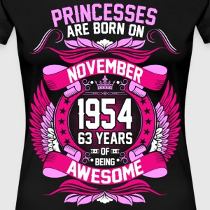 Princesses Are Born On November 1954 63 Years T-Shirts - Women's Premium T-Shirt