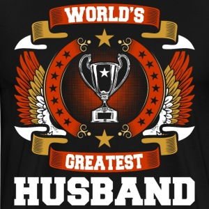 Worlds Greatest Husband T-Shirts - Men's Premium T-Shirt