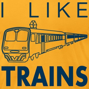 I like trains T-Shirts - Men's T-Shirt by American Apparel