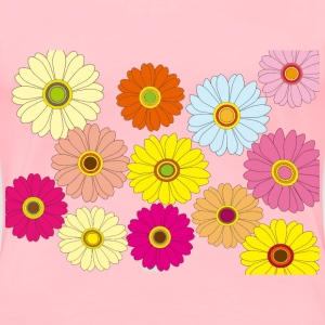 Multicolored Flowers - Women's Premium T-Shirt