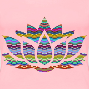 Prismatic Waves Lotus Flower Silhouette - Women's Premium T-Shirt