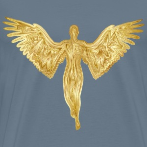 Angel Silhouette Gold - Men's Premium T-Shirt