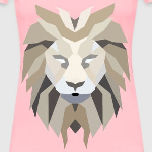 Polygonal Lion Face - Women's Premium T-Shirt