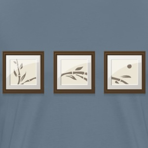 Set of 3 bamboo paintings from Glitch - Men's Premium T-Shirt