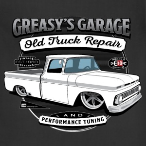 Greasy's Garage Old Truck Repair Apron - Adjustable Apron