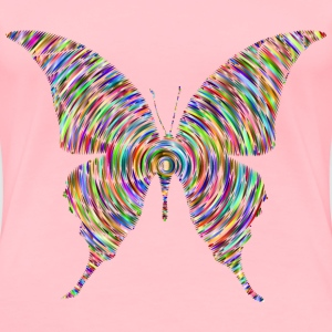 Prismatic Butterfly Silhouette 6 Concentric - Women's Premium T-Shirt