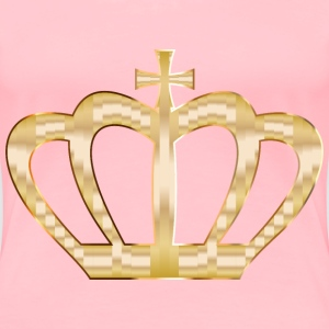 Gold Crown Silhouette 2 No Background - Women's Premium T-Shirt
