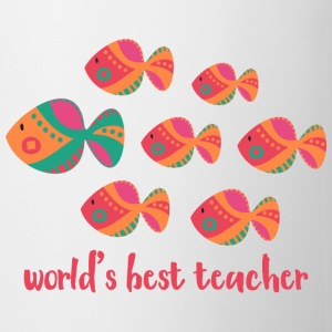 Best Teacher Fish Mugs & Drinkware - Coffee/Tea Mug