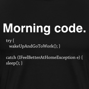 Morning Code - Men's Premium T-Shirt