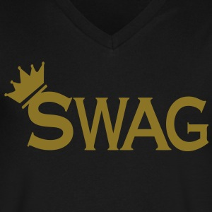 SWAG KING T-Shirts - Men's V-Neck T-Shirt by Canvas