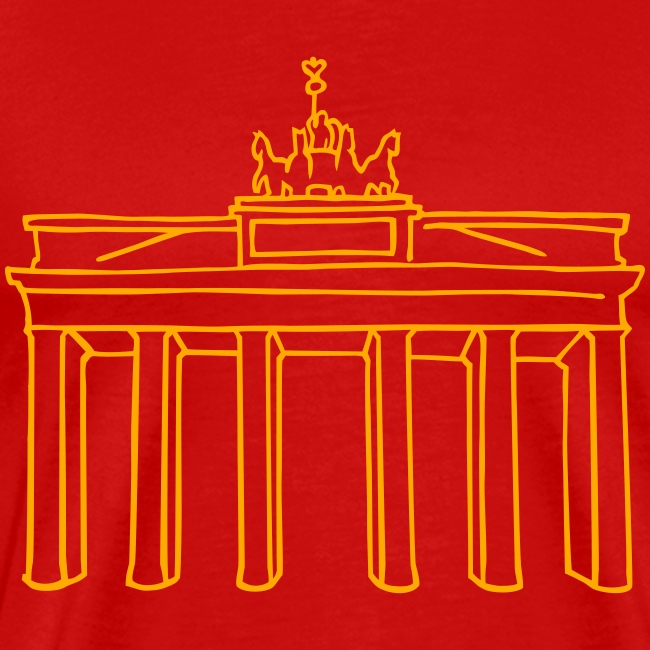 Brandenburg Gate in Berlin (neon)
