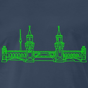 Oberbaum Bridge in Berlin (neon) - Men's Premium T-Shirt