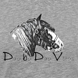 Horse Logo black and white - Men's Premium T-Shirt