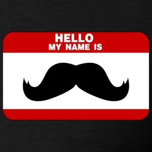 Mustache Name Tag T-Shirts - Men's T-Shirt