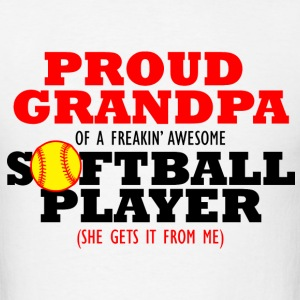 Softball Grandpa (She gets it from me) T-Shirts - Men's T-Shirt