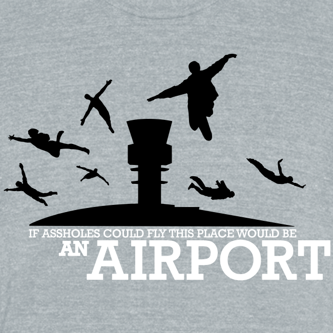If Assholes Could Fly, This Place Would be an Airport Triblend Tee